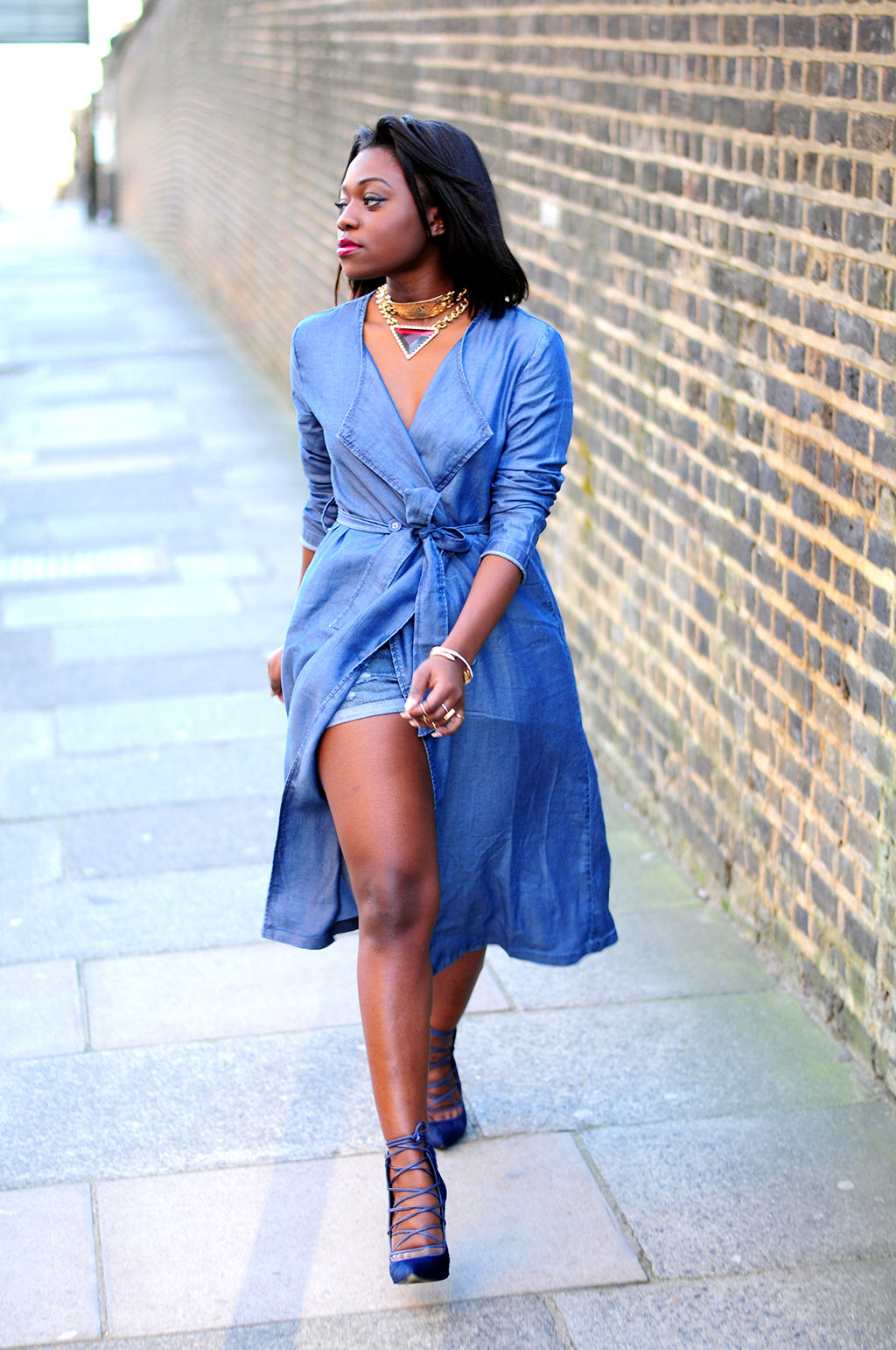 blue denim coat