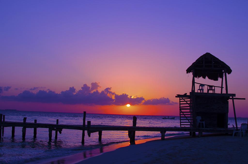 isla mujeres sunset