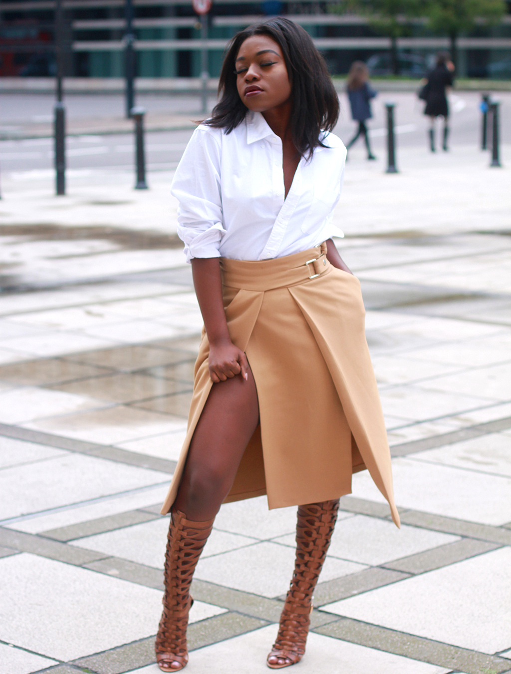 skirt and gladiators