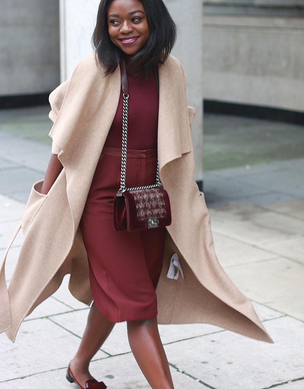 burgundy culottes