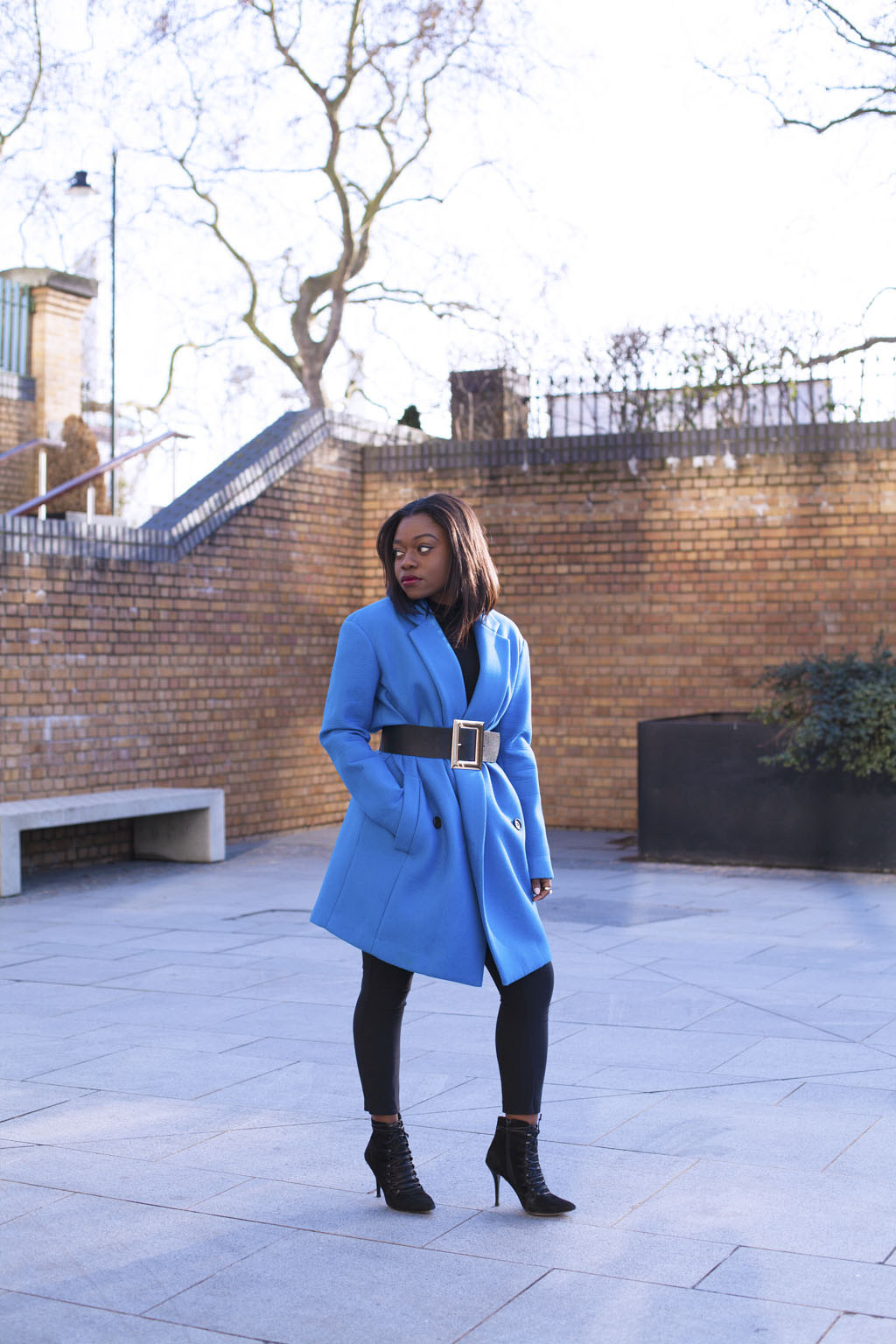 tibi blue coat