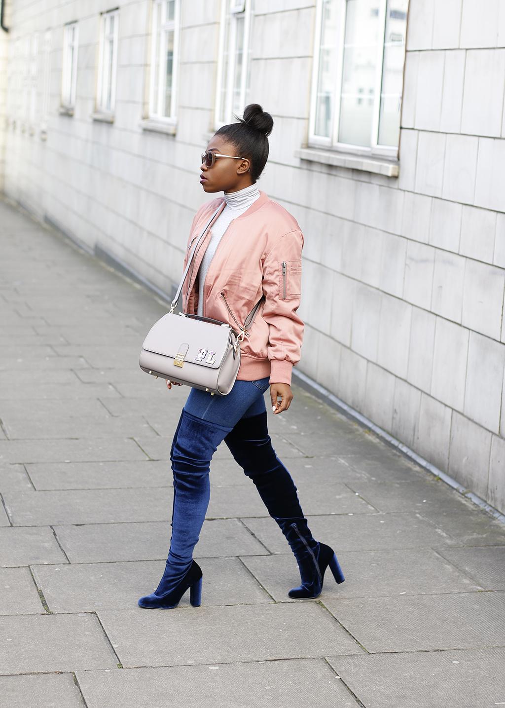 pink-bomber-jacket-kurt-geiger-thigh-high-wolf-boots-mirror-me-5